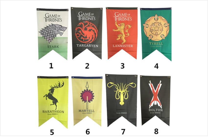 Флаги домов Игры престолов