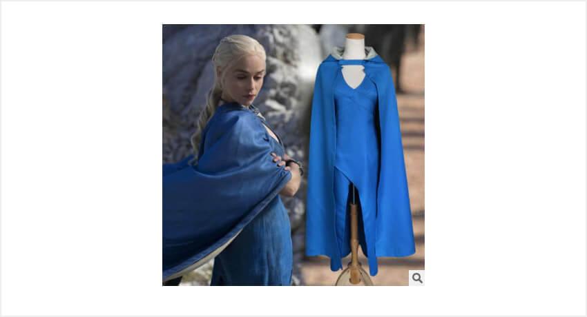 Синее платье Дейнерис