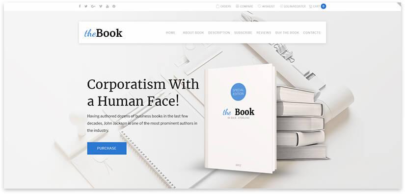 15 шаблонов сайта библиотеки, про книги, писателя на WordPress 2019