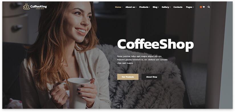 Шаблон сайта про кофе