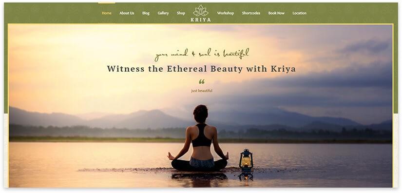 Йога тема для сайта