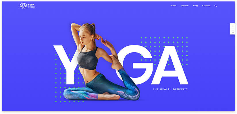Йога шаблон современный