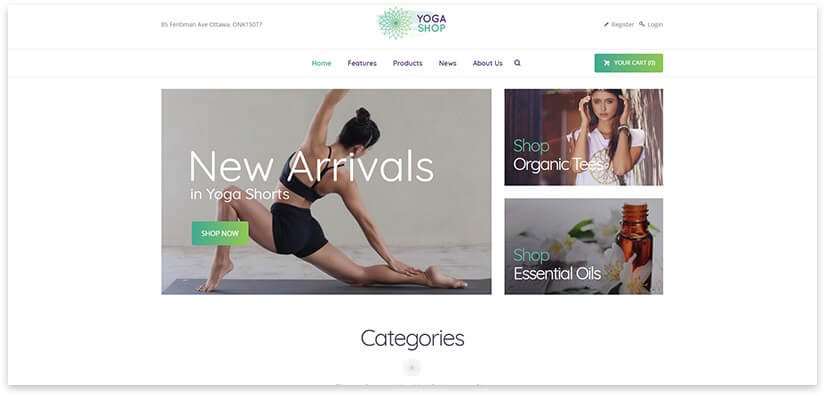 Магазин йога товаров
