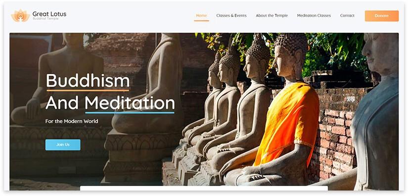 Шаблон сайта храма