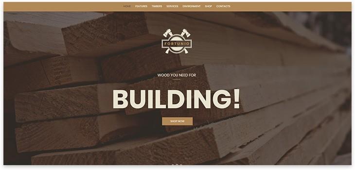 Стройка тема сайта