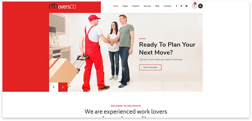 Сайт в красном цвете