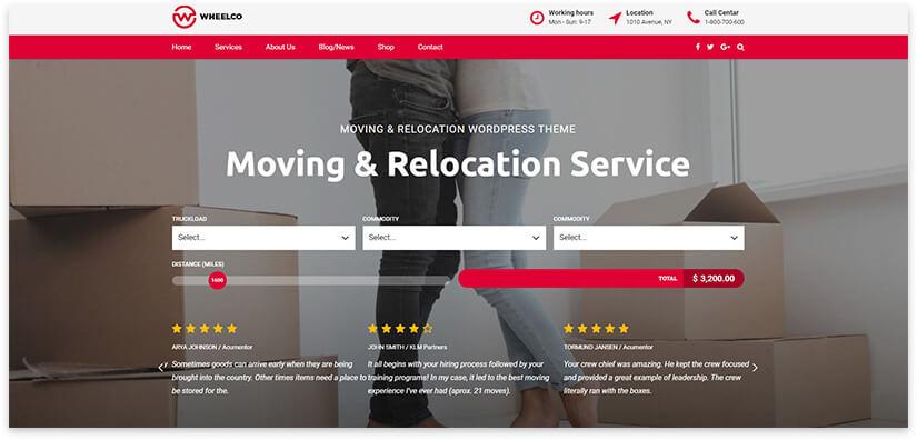 Шаблон сайта услуг грузоперевозок