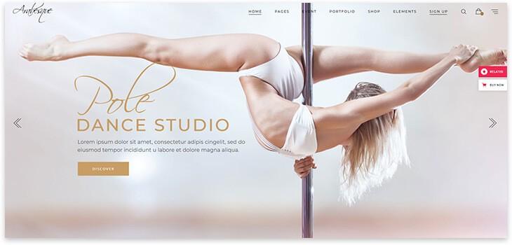 Шаблон сайта танцев