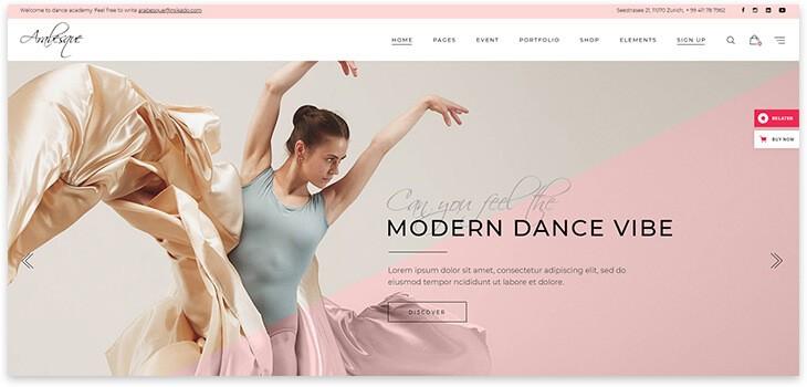 Шаблон балетной школы