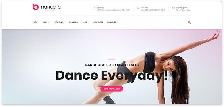 Шаблон для сайта про танцы