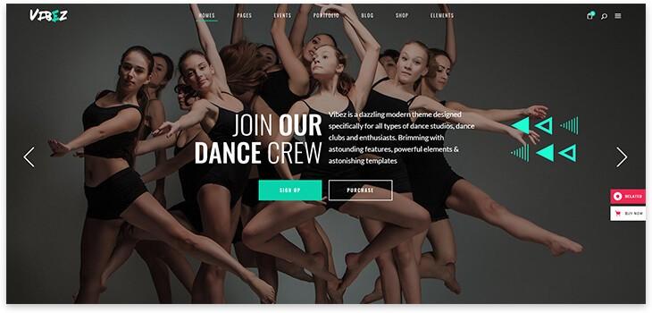 dance wordpress theme