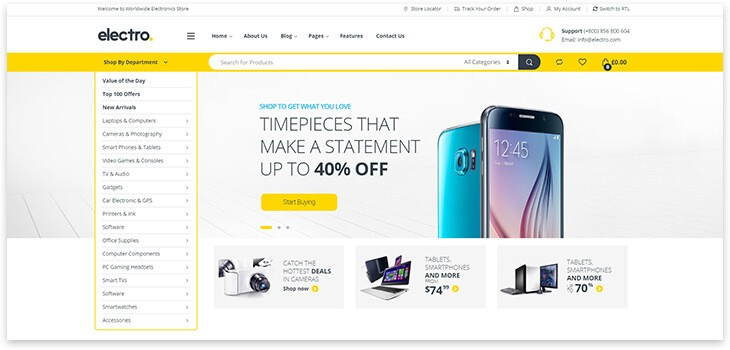 Electro theme wordpress