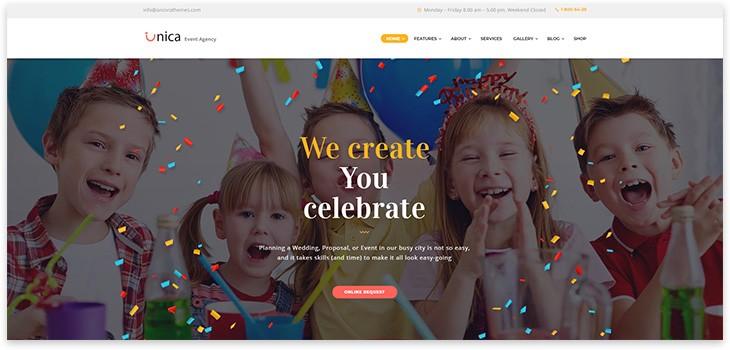 Wordpress сайт праздник