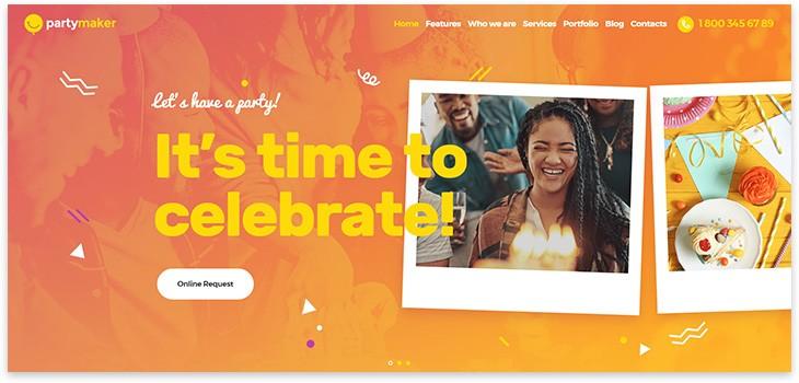 Сайт организация праздника