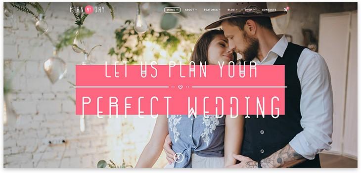 Организация свадьбы wordpress
