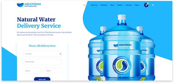 Лендинг доставки воды