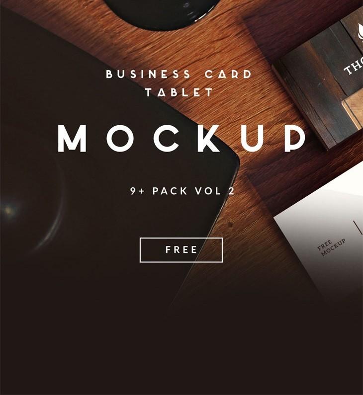 9+ Business Card | TABLET FREE MOCKUP VOL 2
