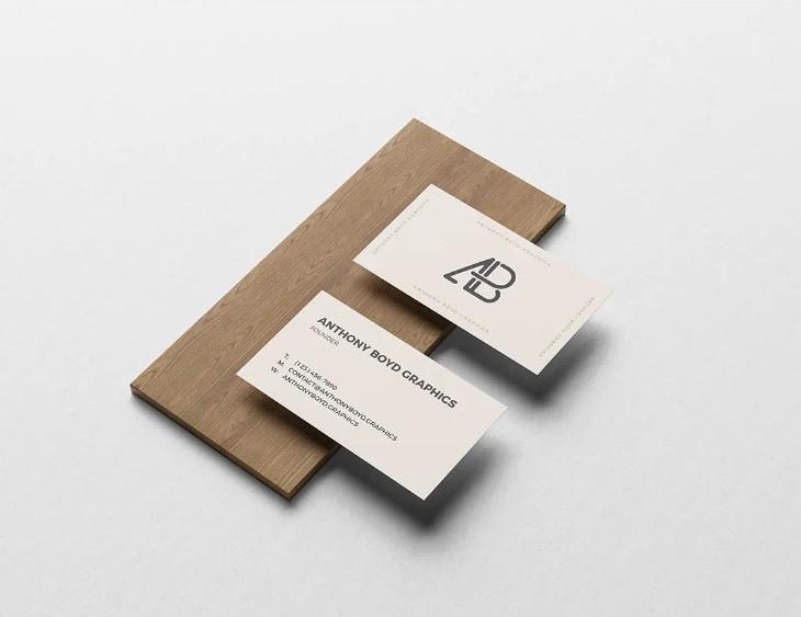 Business Card On Board Mockup