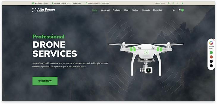 Лендинг продажа дронов