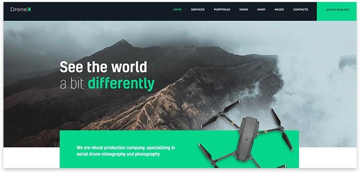 drone wordpress