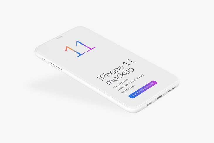 Free Download iPhone 11 Clay Mockup