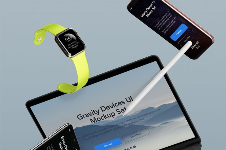 Gravity Psd Devices UI Mockup Set v6