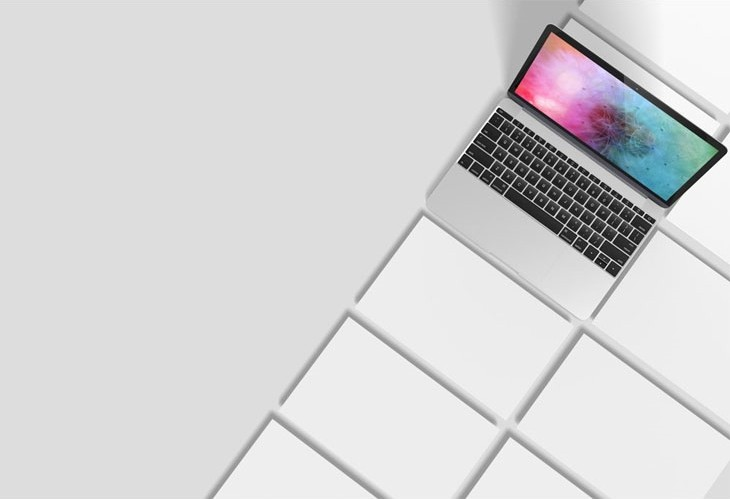 MacBook Screendesign Showcase Mockup
