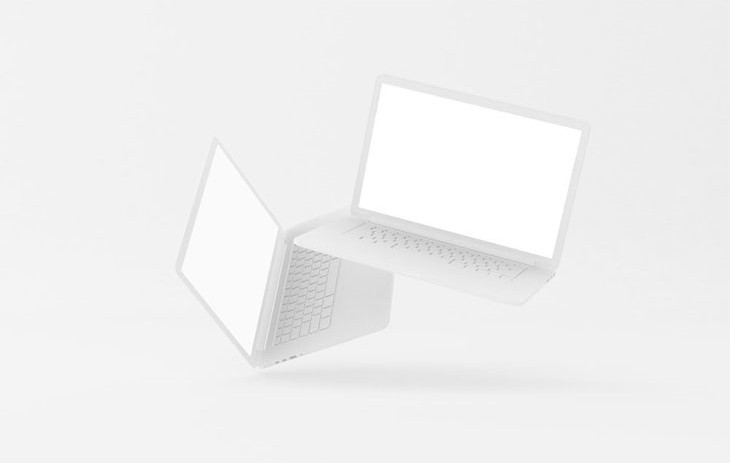 Floating Clay MacBooks Pro Mockup