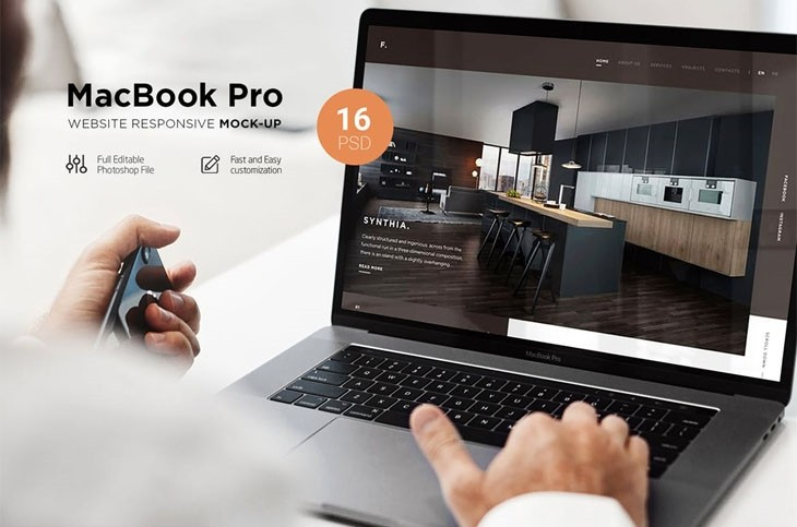 MacBook Pro Responsive Mock-Up