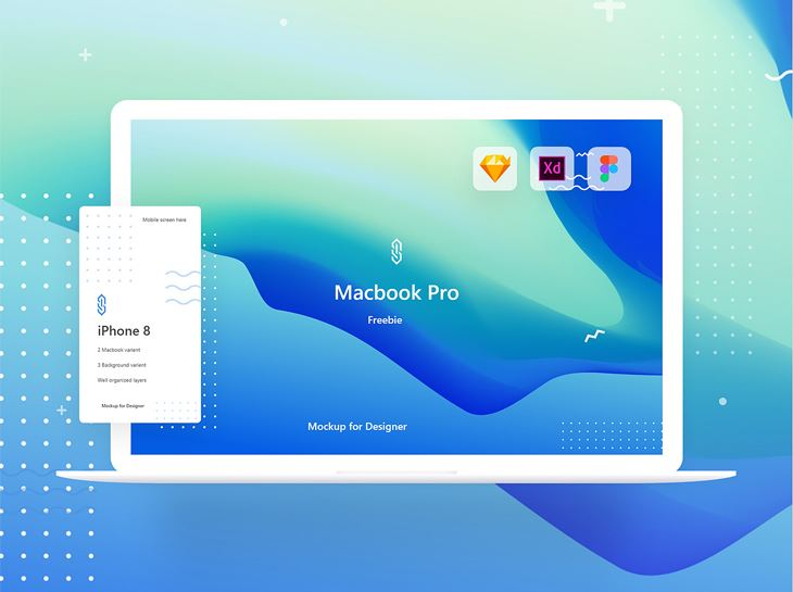 MacBook Pro Mockup Freebie | XD Sketch and Figma
