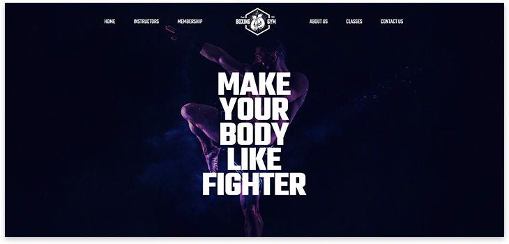 Boxing wordpress theme