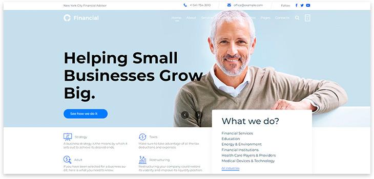 Бизнес сайт про бухгалтерию