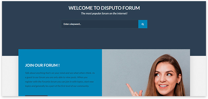 Шаблон сайта форума