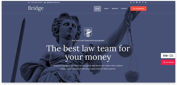 Шаблон сайта юриста