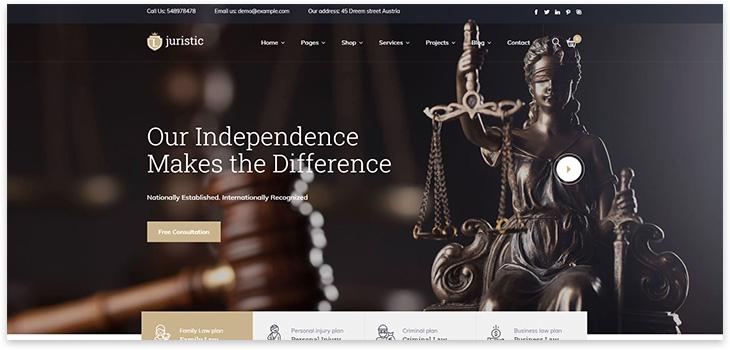 Тема юридических услуг