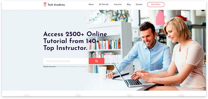 Шаблон сайта обучения
