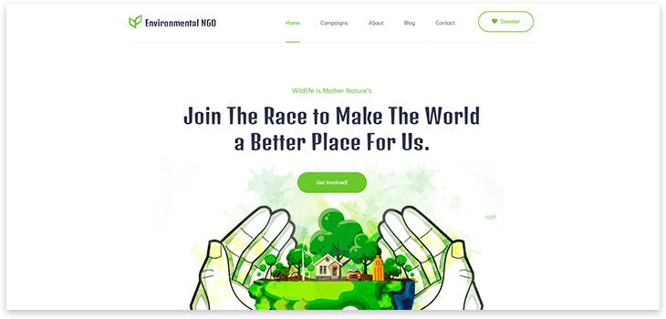 Шаблон сайта благотворительности