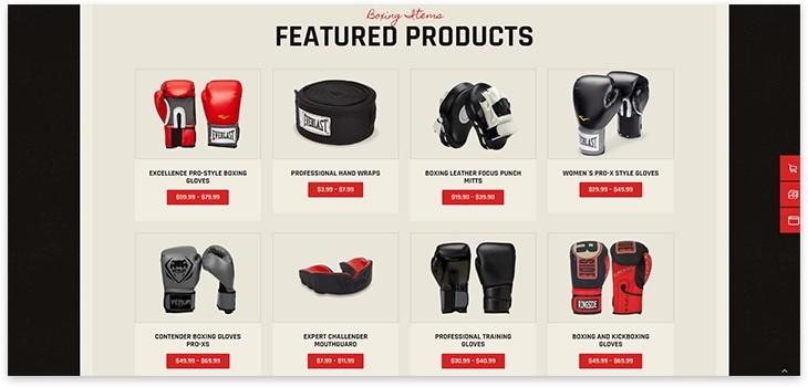 Магазин для бокса