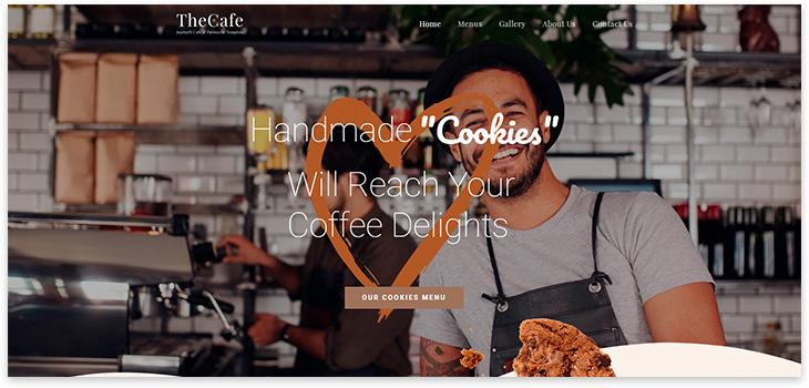 шаблон сайта кафе