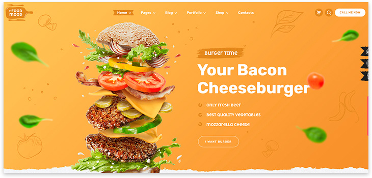 бургер бар шаблон сайта