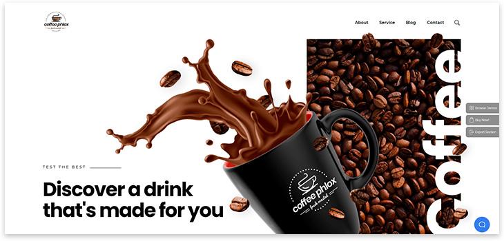 Шаблон сайта кофе