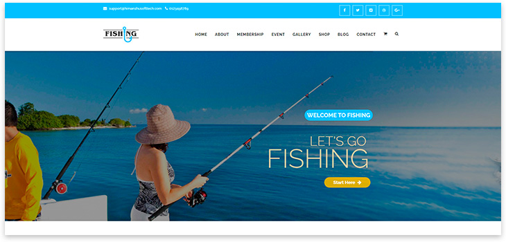 Шаблон сайта рыбалки