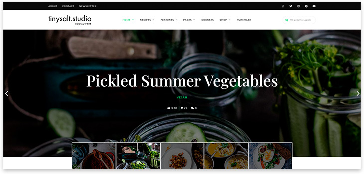 Шаблон сайта рецептов