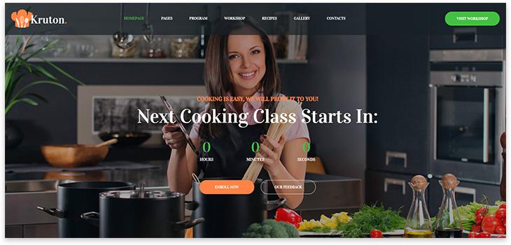 Тема для лендинга кулинарного курса