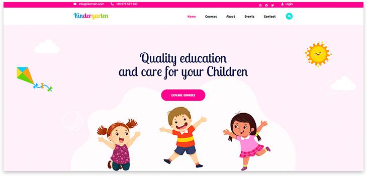Шаблон сайта частного детского сада