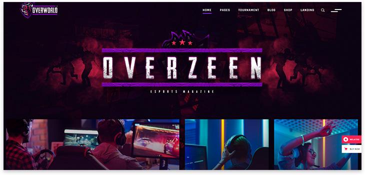Тема игрового сайта