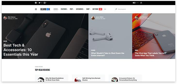Шаблон новостного сайта