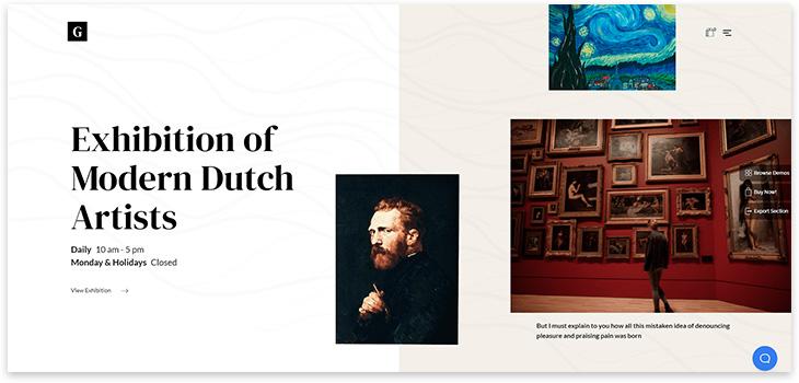 Шаблон сайта музея