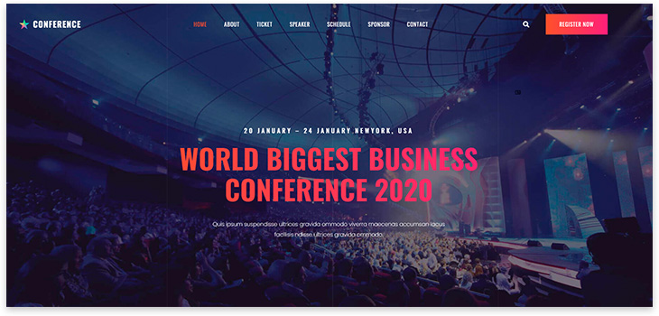 Шаблон сайта конференции
