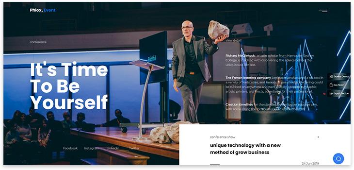 Шаблон сайта конференции wordpress